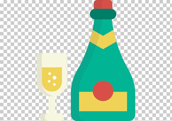 Bebida destilada champán bebida alcohólica iconos de.