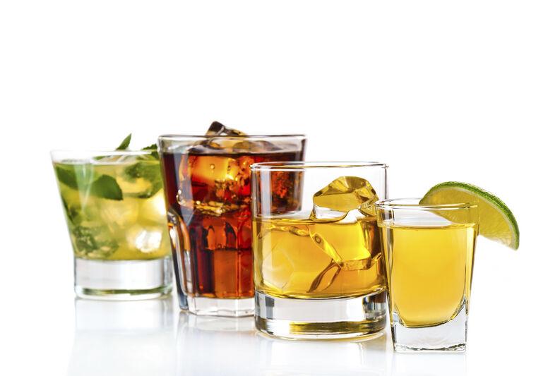 Calorías de las bebidas alcohólicas.