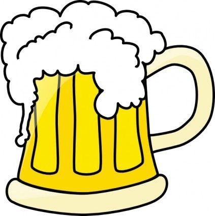 Beer Mug clip art Free vector in Open office drawing svg ( .svg.