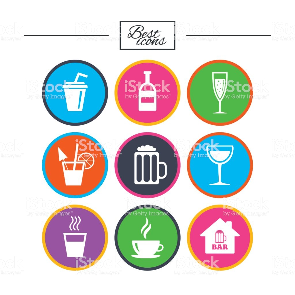Vetores de Café Chá E Ícones De Clipart Álcool Bebidas As Placas e mais  imagens de Ale.