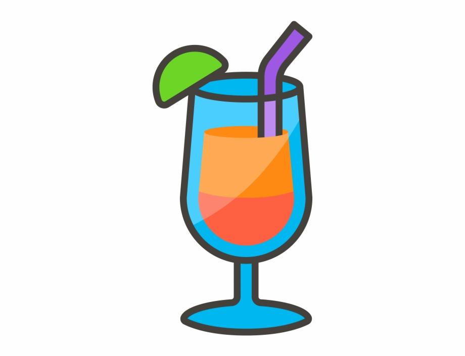 Tropical Drink Emoji Icon.
