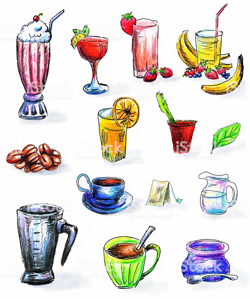 Vetores de Mão Desenhadas Bebidas Clipart e mais imagens de Bebida.