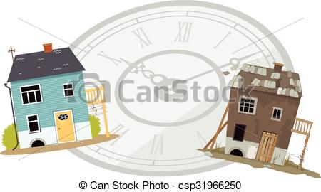 Clipart Vector of New became old.