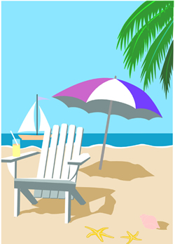 Tropical Beach Clipart.