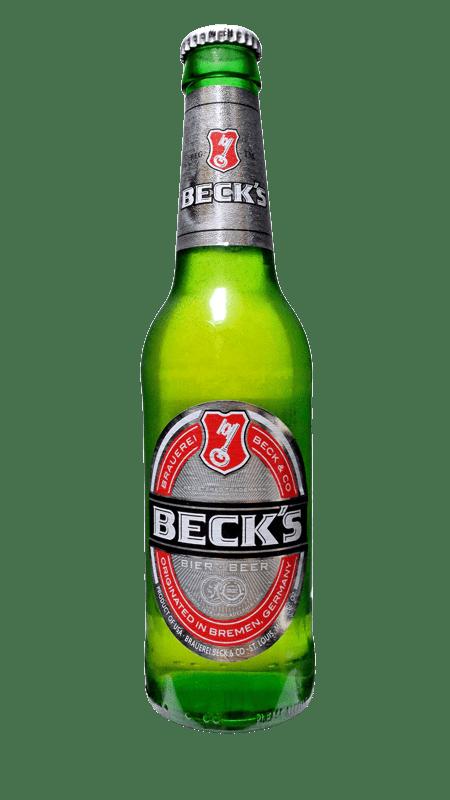 Beck's Bottle transparent PNG.