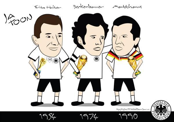 "Ja Toon on Twitter: ""54 Walter.74 @beckenbauer.90 Lothar Matthaus."