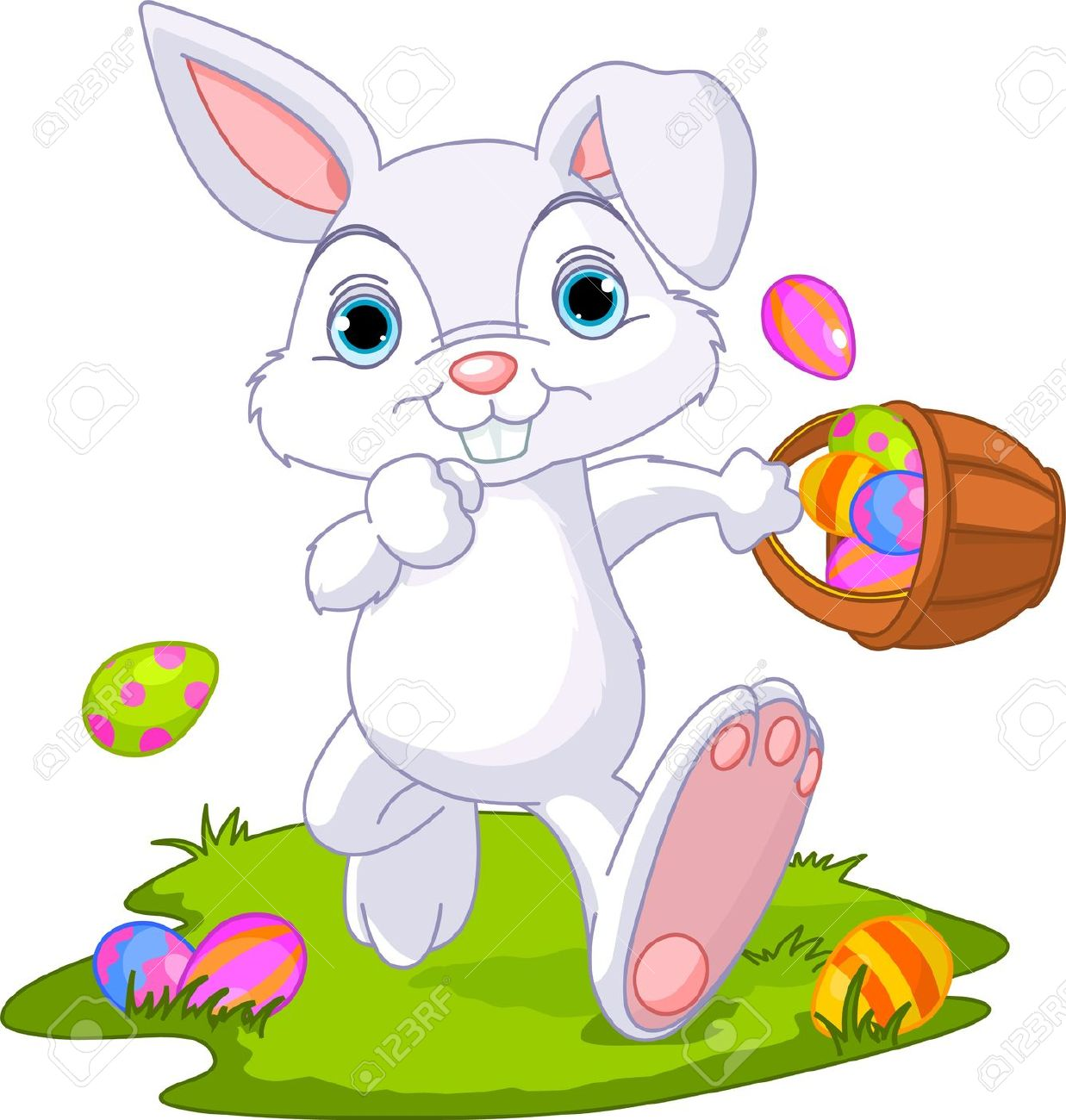 clipart easter bunny exercising image #20