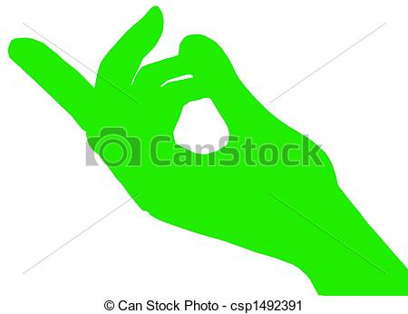 Clipart of Green beckoning fingers.