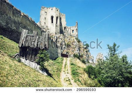 Crumbling Castle Stock Photos, Royalty.