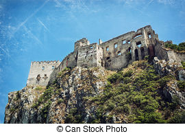Stock Image of Beckov castle ruins, Slovak republic, Europe.