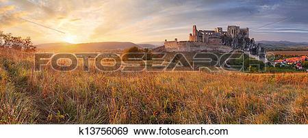 Stock Photograph of Slovakia Castle Beckov.