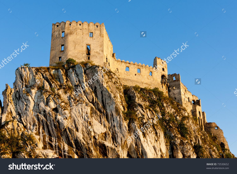 Ruins Of Beckov Castle, Slovakia Stock Photo 73530652 : Shutterstock.