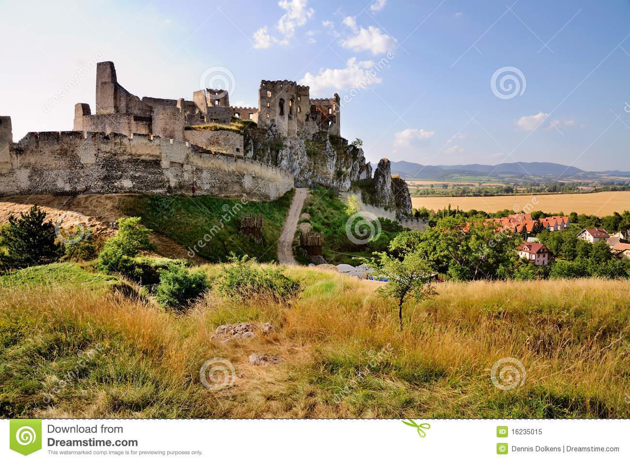 Beckov Castle, Slovakia Royalty Free Stock Photo.