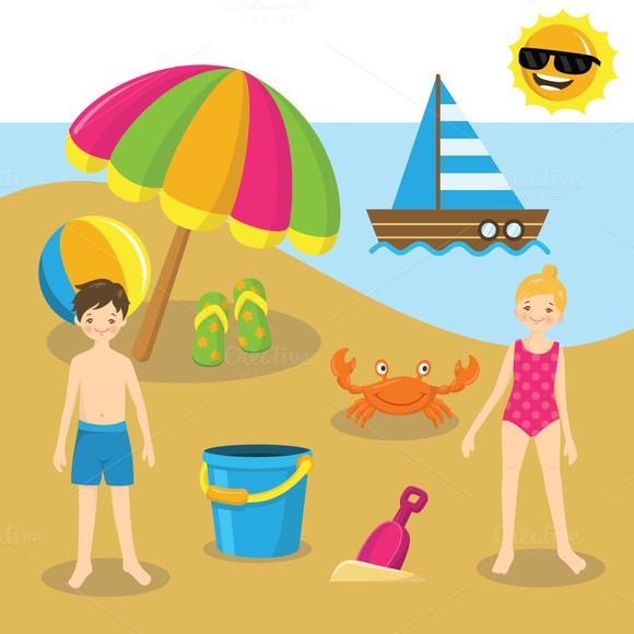 Best Beach Clipart Deals on the Creative Market.