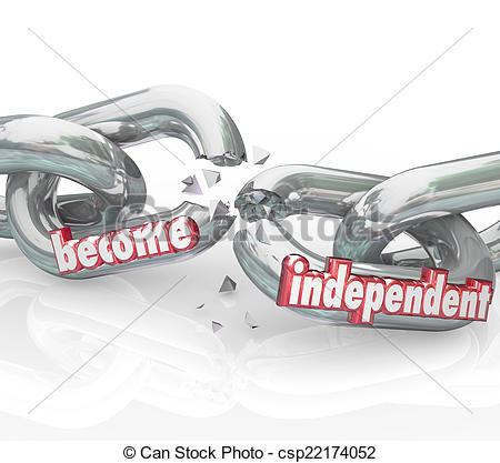 Stock Images of Become Independent Break Chains Gain Freedom Self.