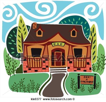 Bed and breakfast clipart.