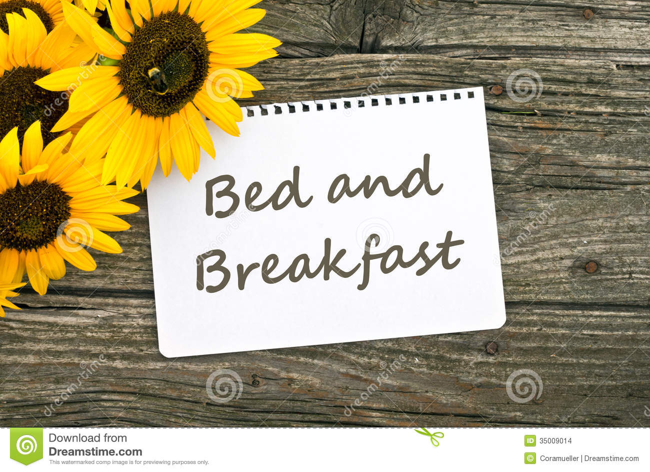 Bed and Breakfast Clip Art.