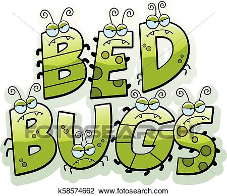 Cartoon Bed Bug Text Clipart.