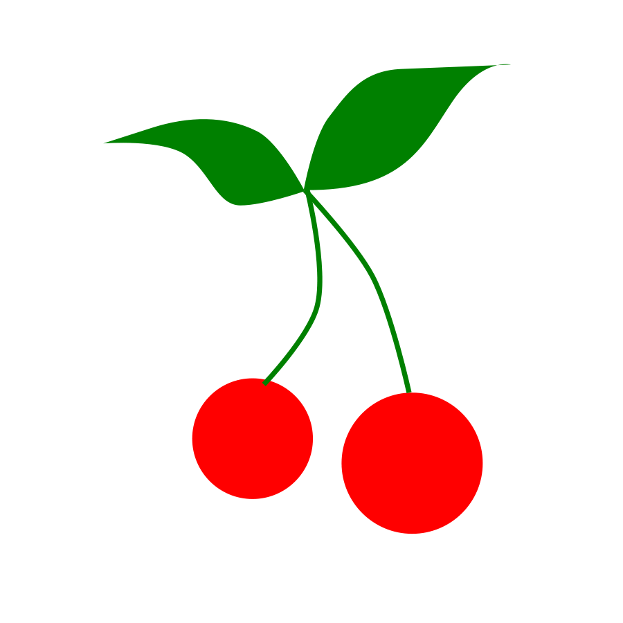 Cherry Black And White Clipart.