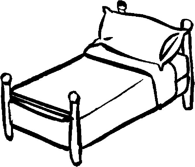 98+ Bed Clipart Black And White.