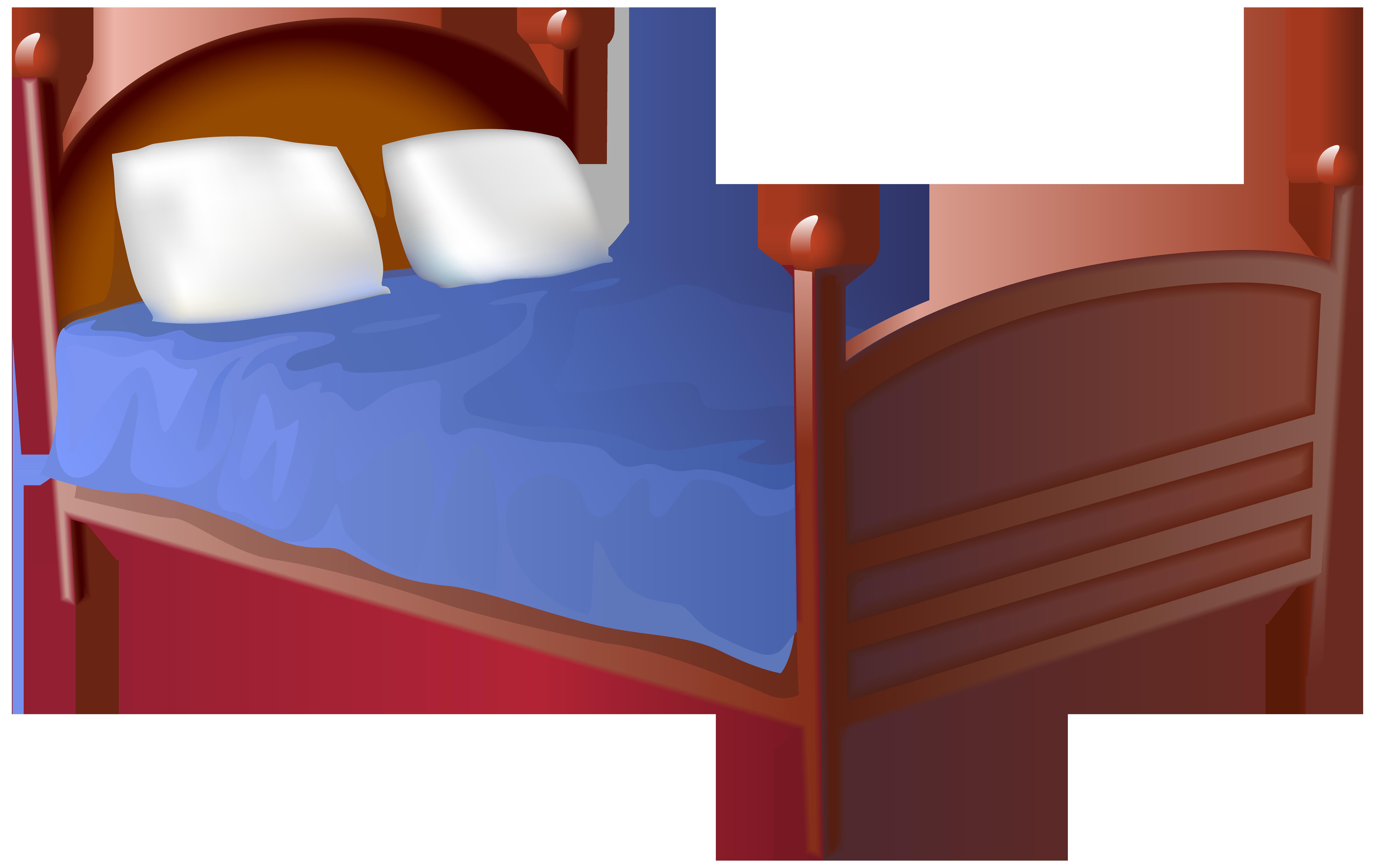 Bed Transparent PNG Clip Art Image.