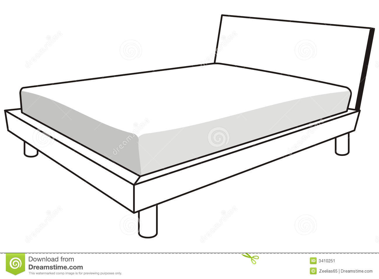 101+ Bed Clipart Black And White.
