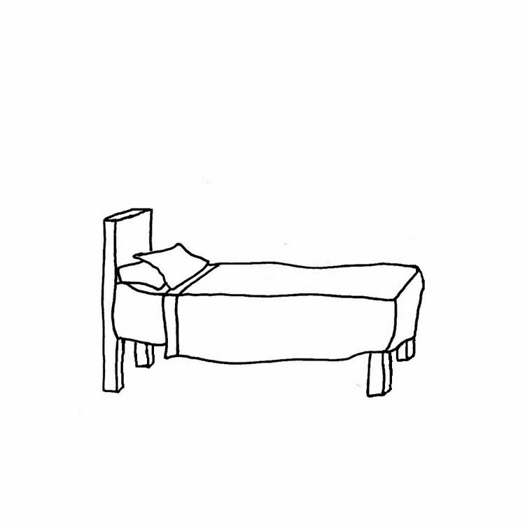 7+ Bed Clipart Black And White.
