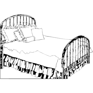 Bed Clip Art Black And White.