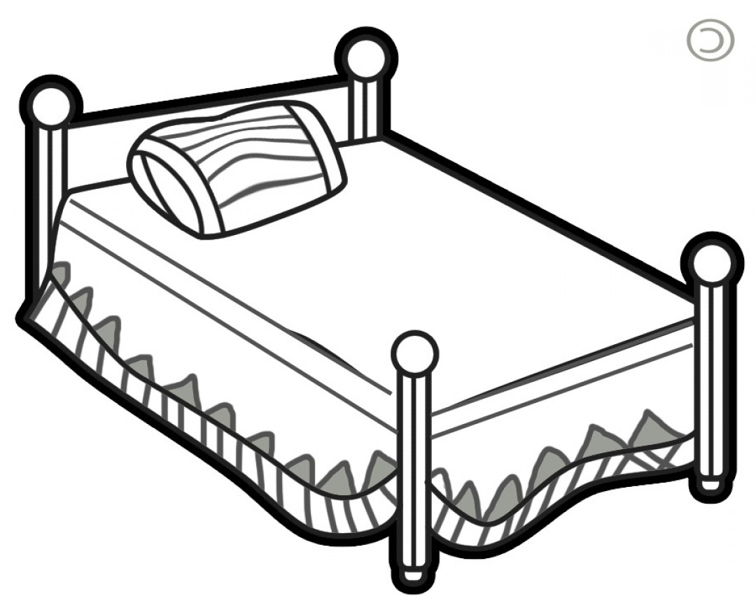 Bed clipart black and white 4 » Clipart Station.