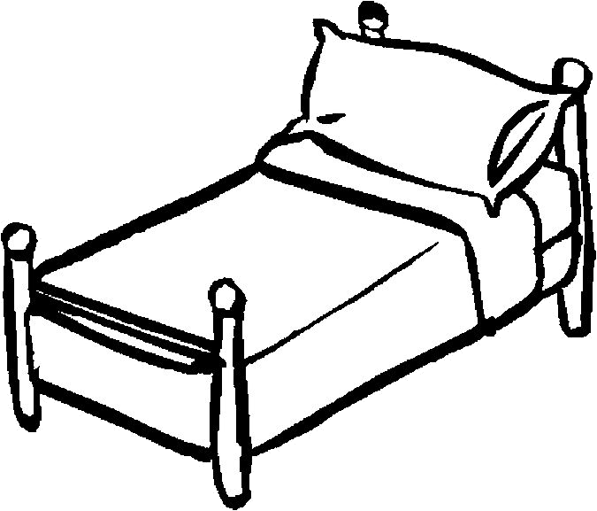Bed Vintage Bedrooms Beds And Clipart Black White Transparent Png.