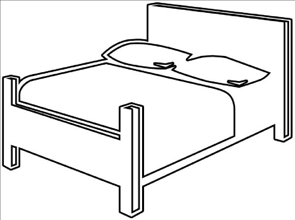 Bed Outline Clip Art at Clker.com.