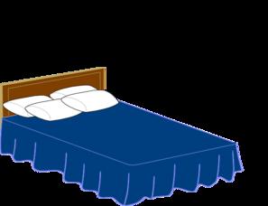 Blue Bed Clip art.