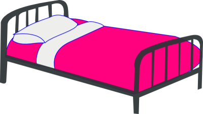 Getting Into Bed Clipart PNG.