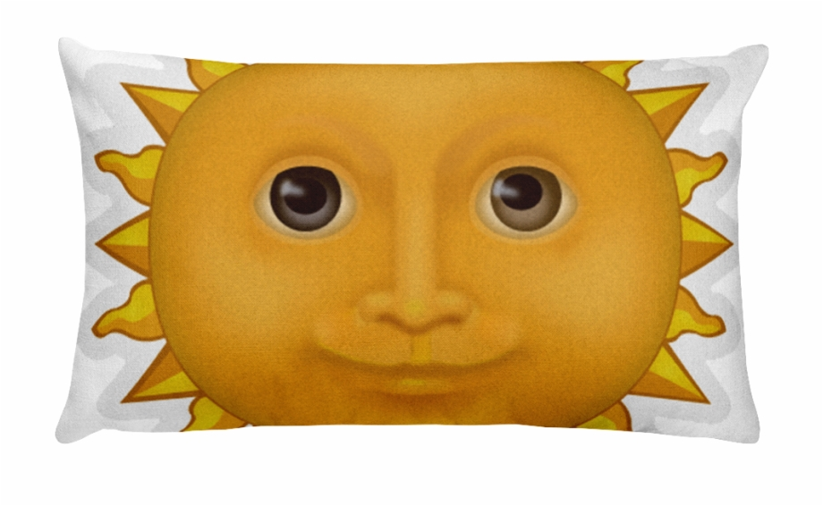 Emoji Bed Pillow Sun With Face Just Emoji Png Sun Emoji.