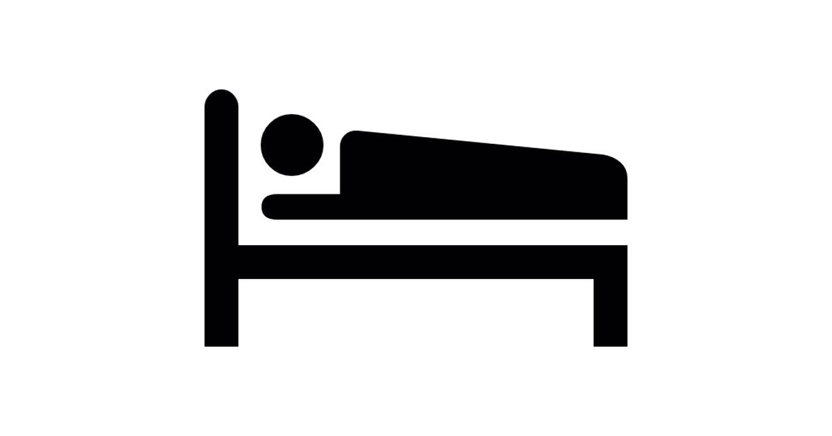 Sleeping Bed Silhouette.