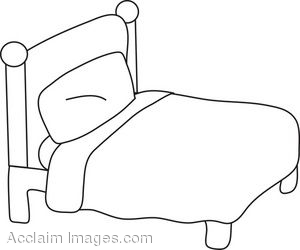 Clip Art Black and White Bed Sheet.