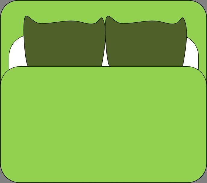Bed sheet clip art.