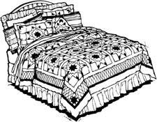 Clipart bed sheets.