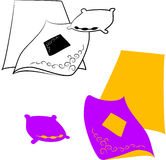 Bed Sheets Stock Illustrations.