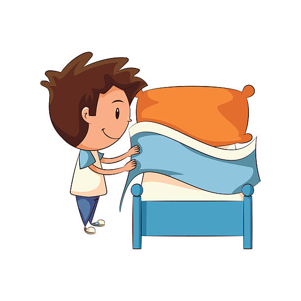 Bed Making Clipart.