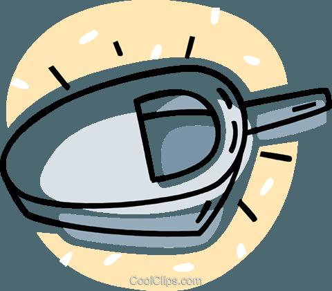bedpan Royalty Free Vector Clip Art illustration.