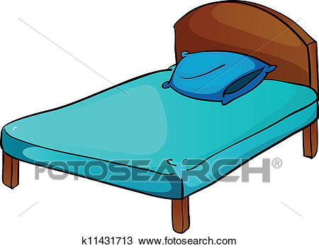 Bed and pillow Clipart.