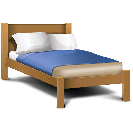 Classic Cartoon Bed transparent PNG.