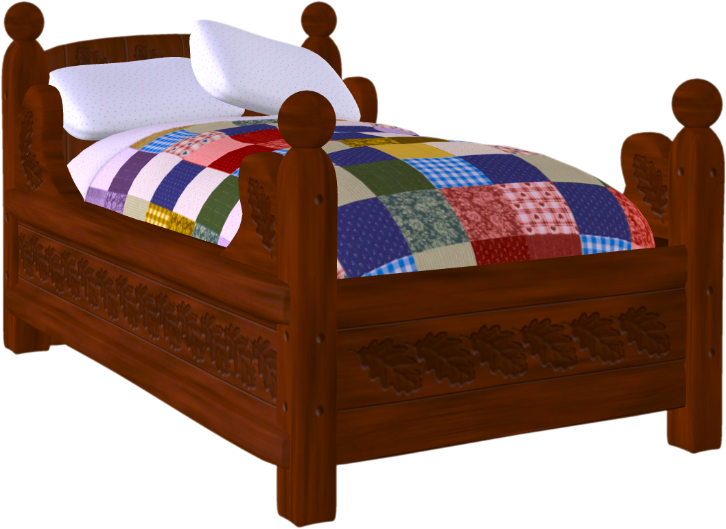 Bed PNG Pictures Free Download, Aesthetic Bed Clipart.