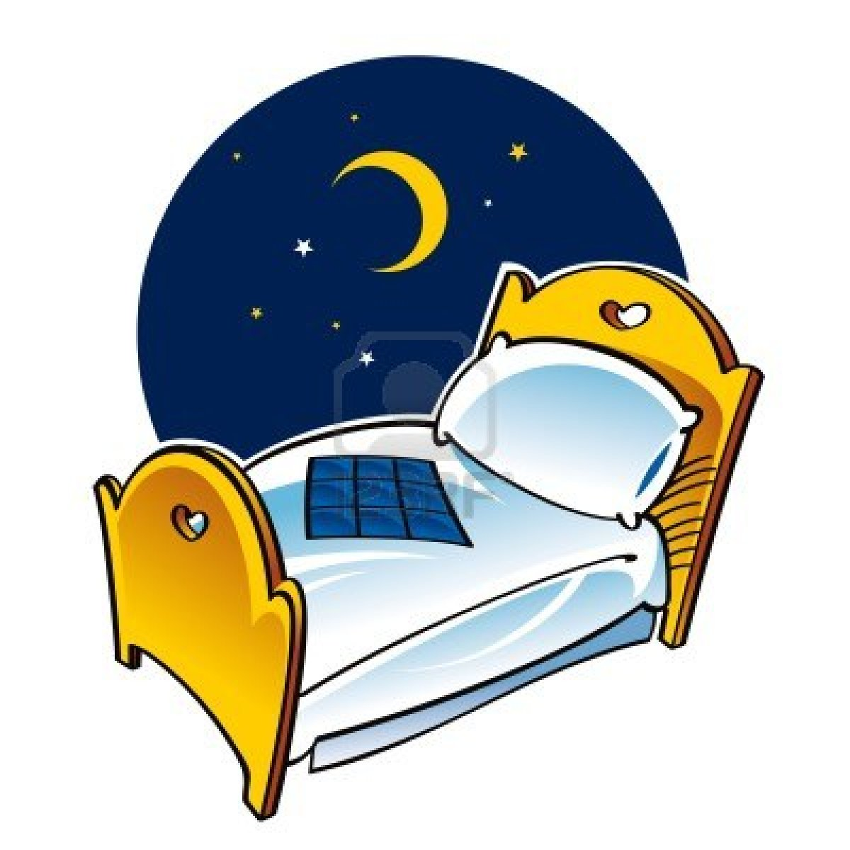 Animated time for bed clipart.