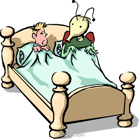 Bed bug Royalty Free Vector Clip Art illustration.