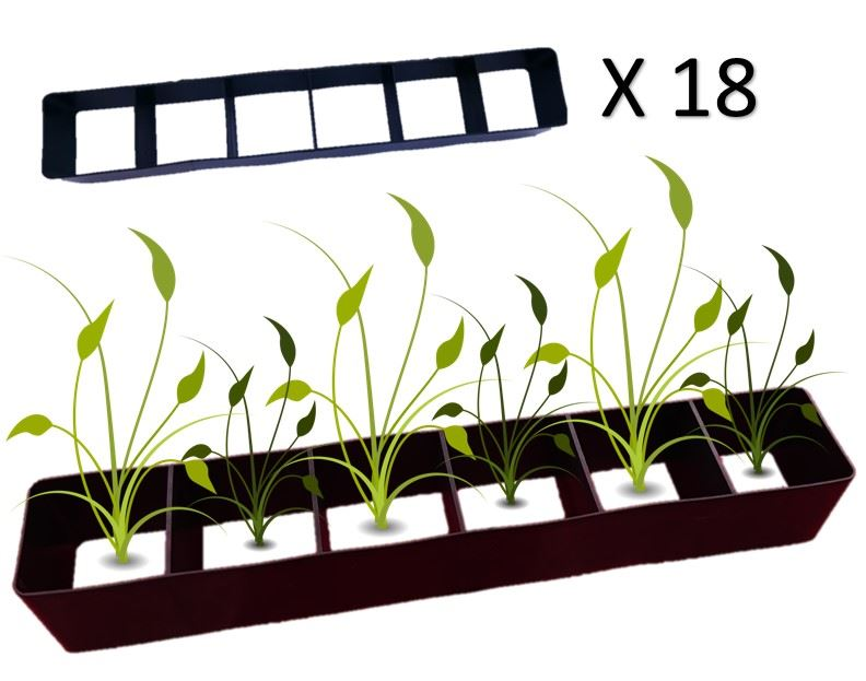 18x Multi Plant Cell Seed Growing Tray Seedling Spacer Garden.