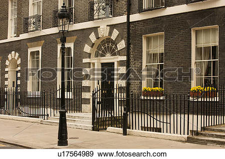 Stock Photograph of Bedford Square, Bloomsbury, London u17564989.
