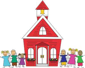 Pre Schoolhouse Clipart.