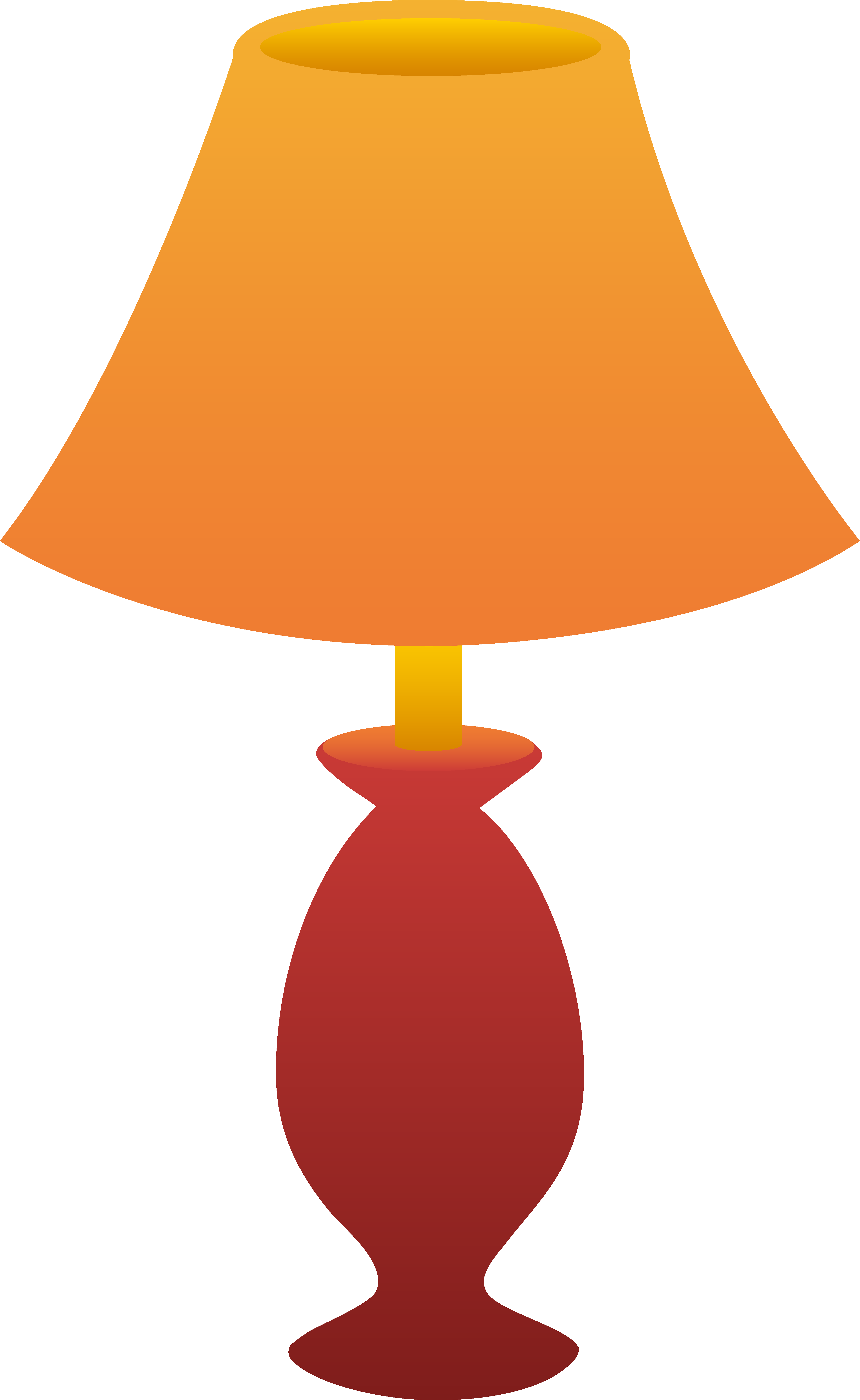 Clipart side table and lamp.